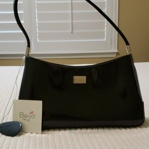 Beijo black patent leather purse NEW